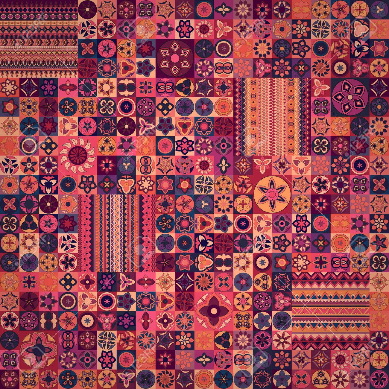 hand fond dessine peut etre utilise pour tissu papier peint carrelage emballage couvertures et tapis islam arabe indienne motifs ottomanes