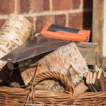 Firewood Basket Of Hand Sawn Fire Wood Logs And Saw Fuel For Stock Photo Picture And Royalty Free Image Image 117900594