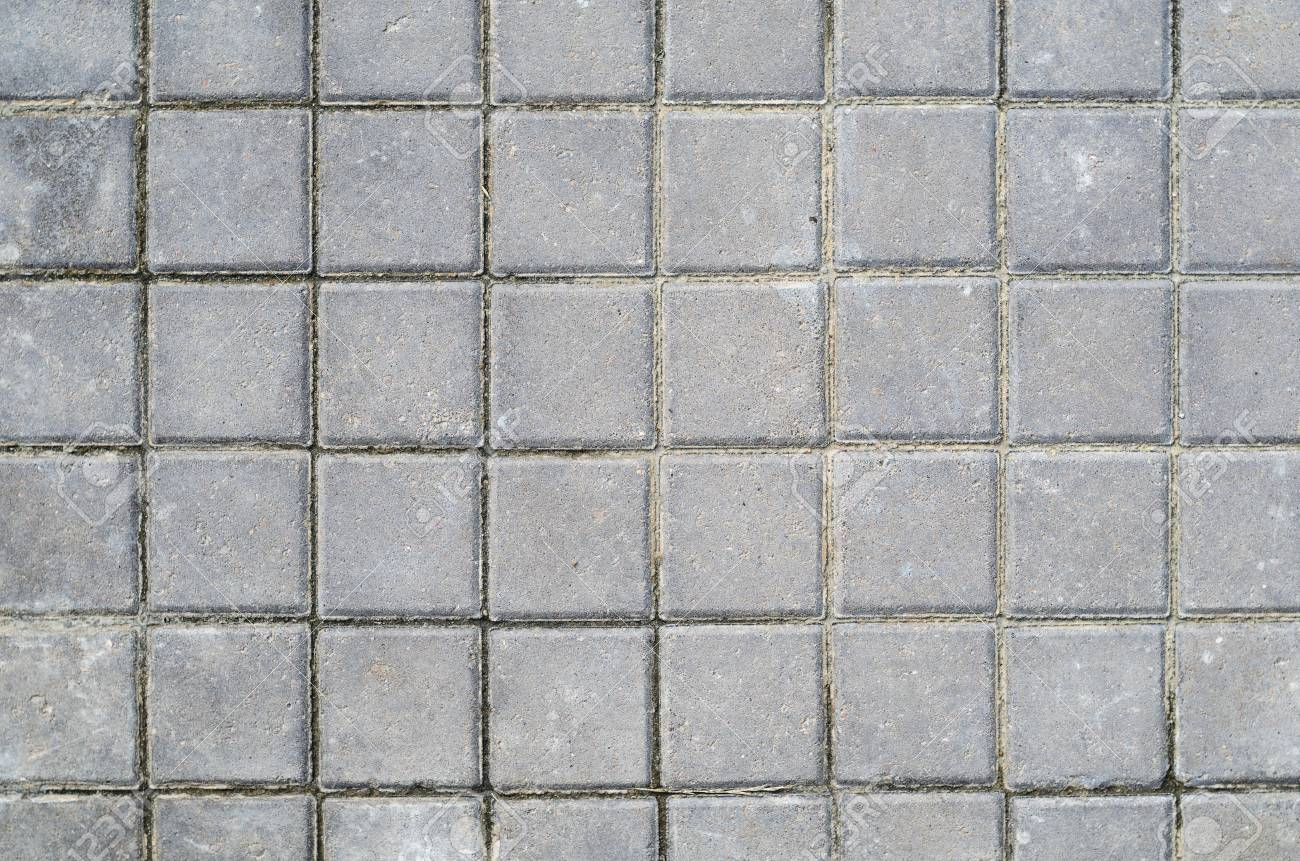 gray concrete square paving stone texture landscaping background