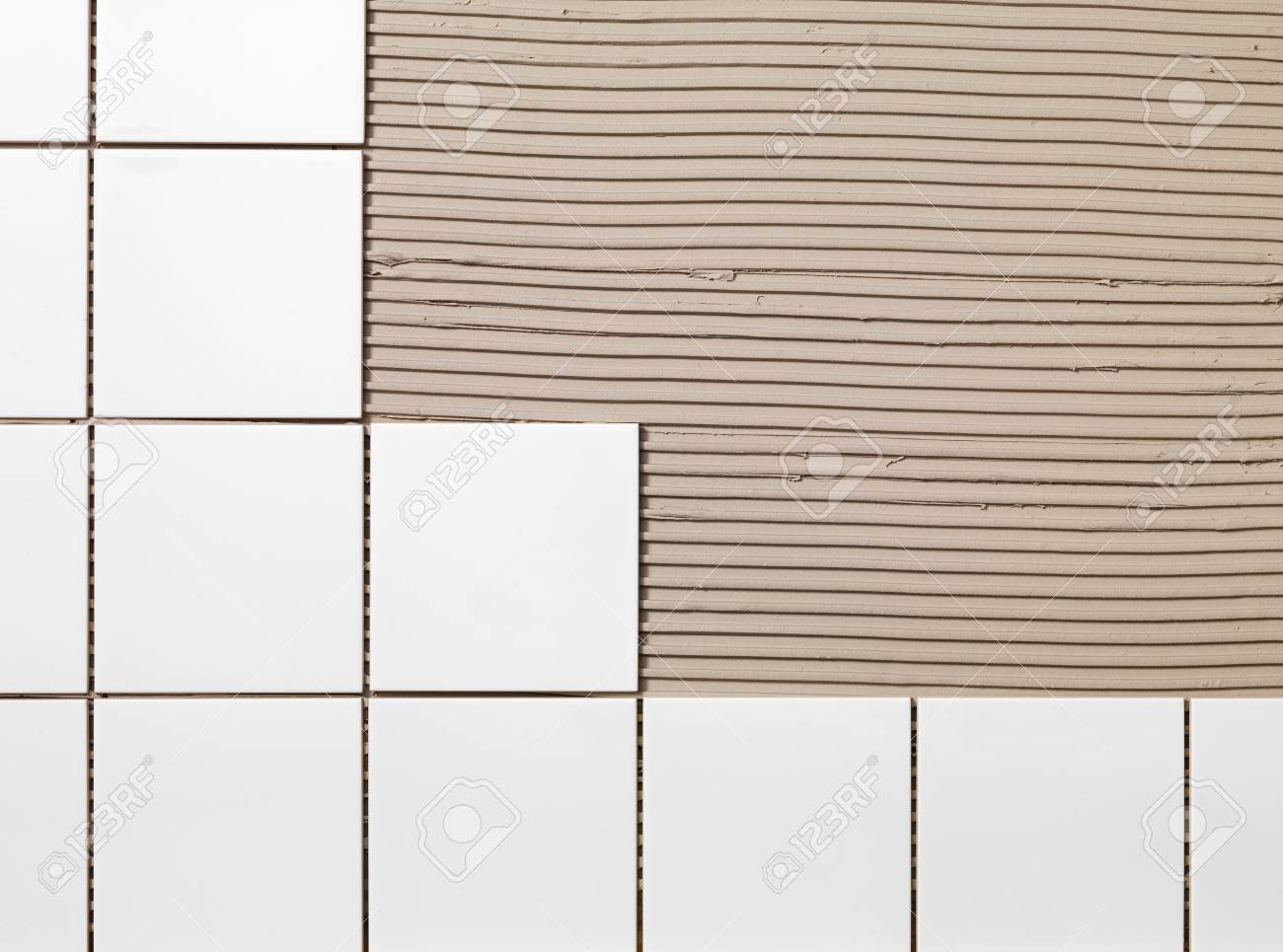 tile adhesive and tiles stock photo picture and royalty free image image 33571271