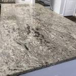 Dark And Gray Granite Countertop Inside Kitchen On Island Stock Photo Picture And Royalty Free Image Image 125499341