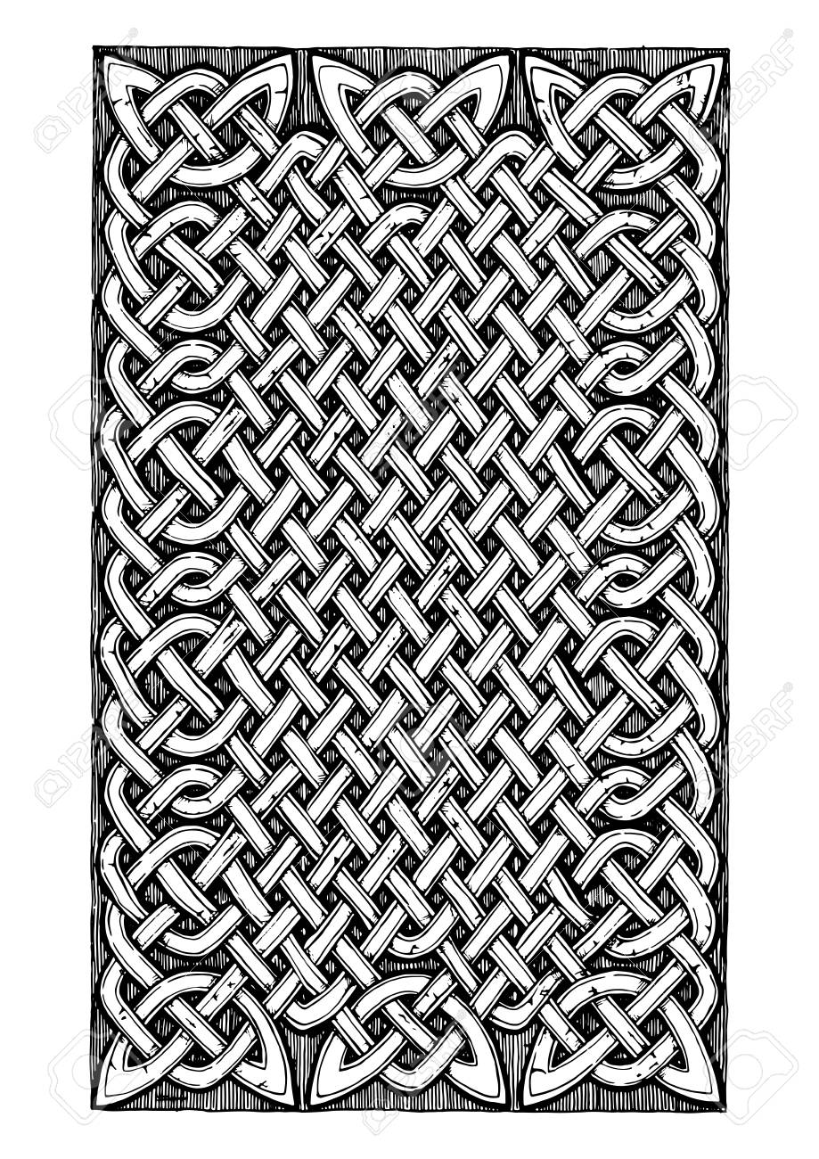 Celtic Knots Pattern In Ink Hand Drawn Style Royalty Free Cliparts Vectors And Stock Illustration Image 92982478