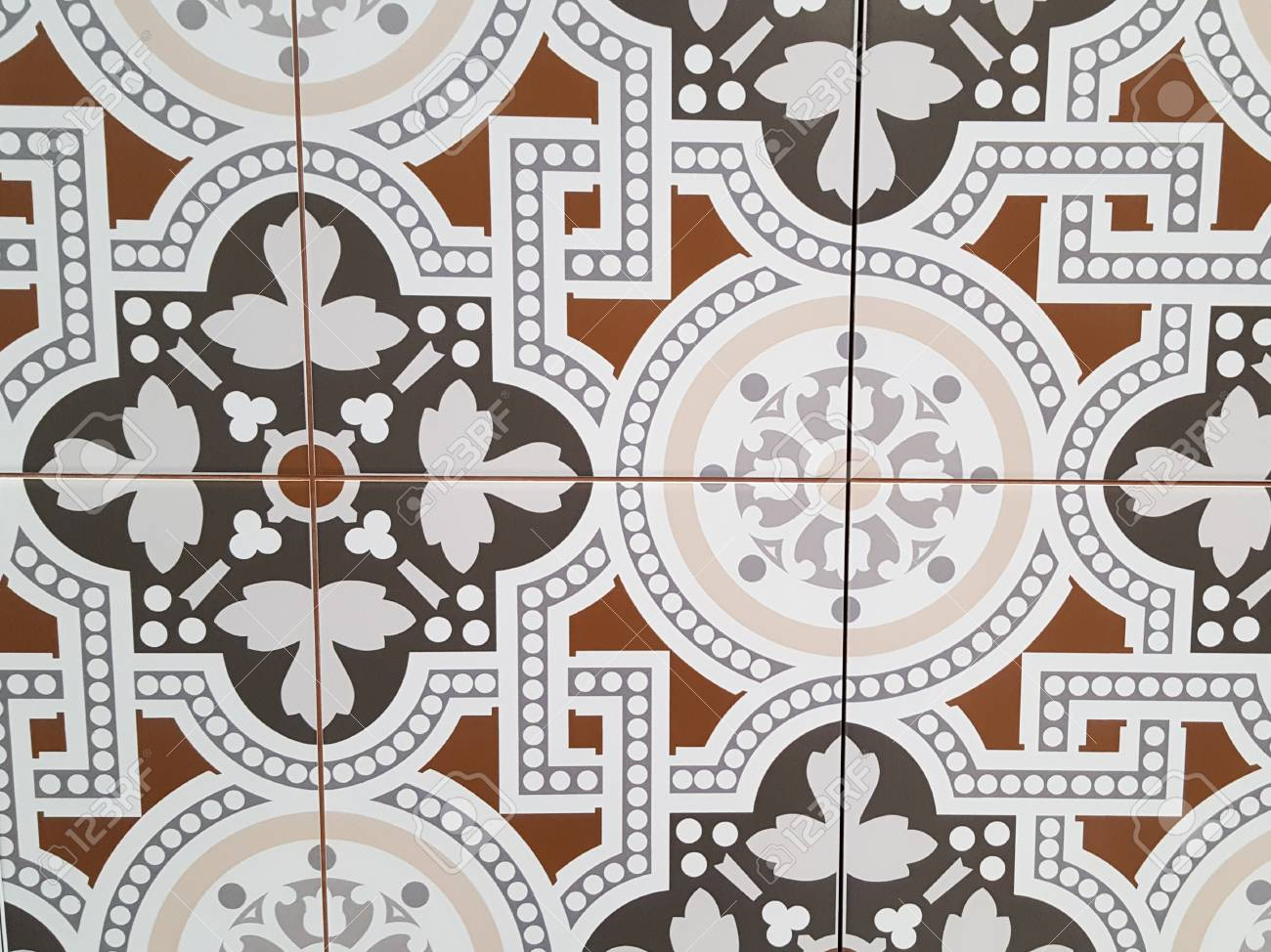 patterned floor and wall tiles modern decor of traditional encaustic