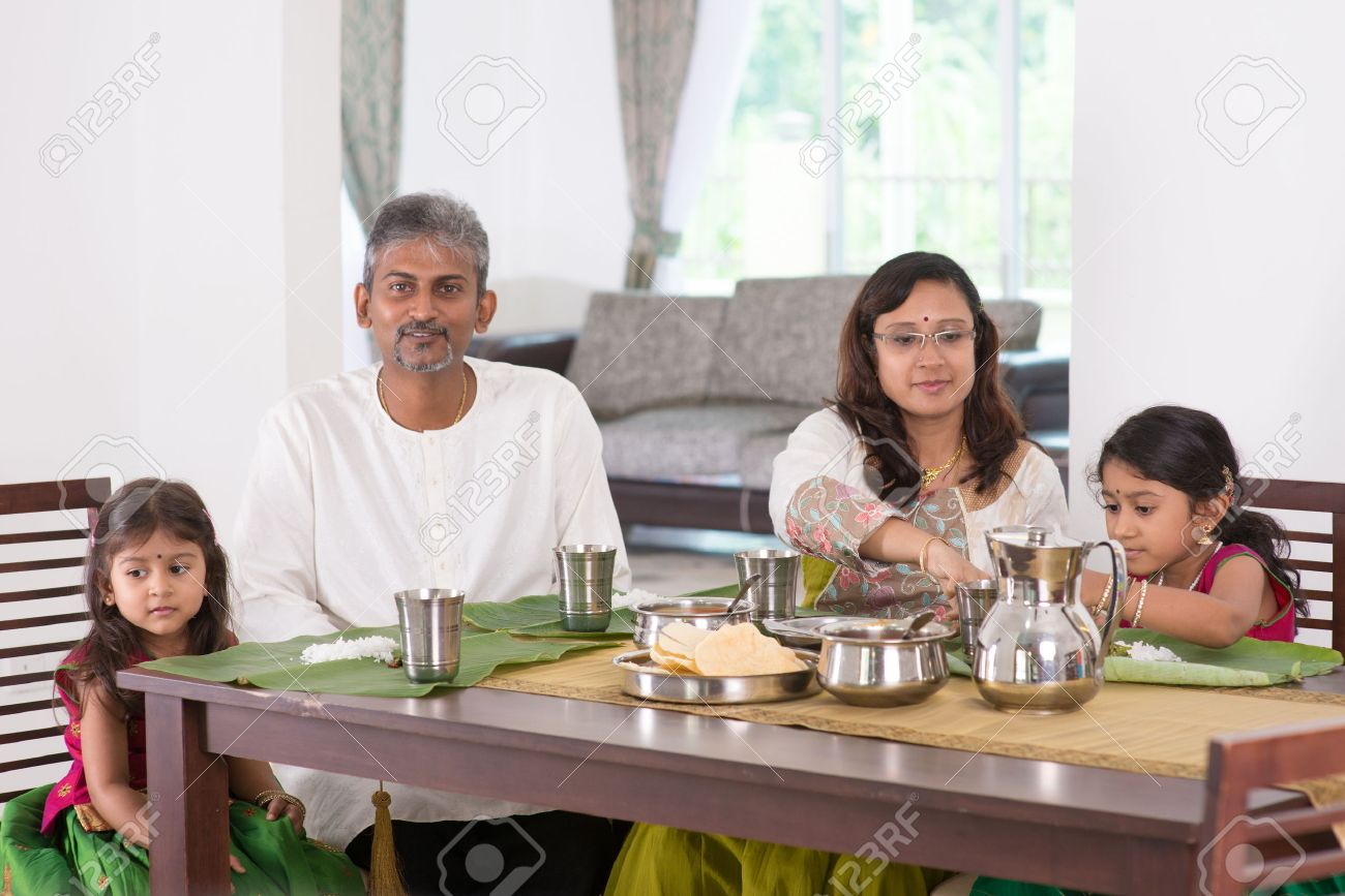 Image result for an indian family on dining table images