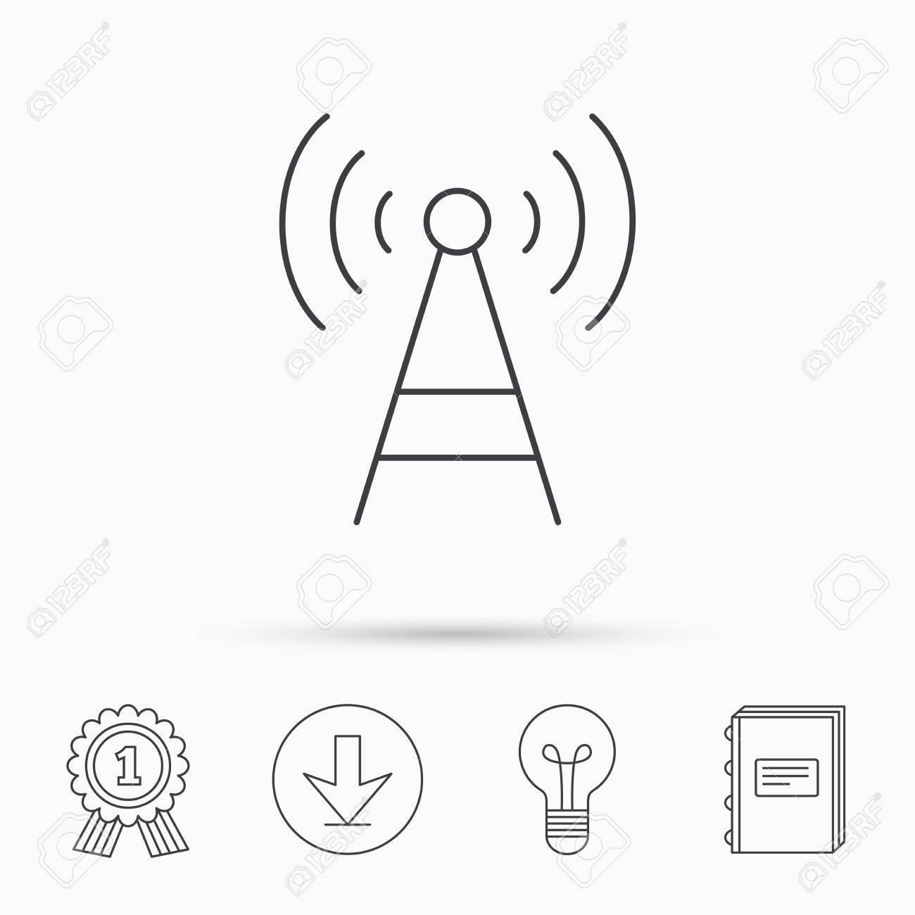 Tele munication tower icon signal sign wireless wifi work