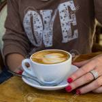 Woman In Coffee Shop During The Coffee Brake Stock Photo Picture And Royalty Free Image Image 24041941