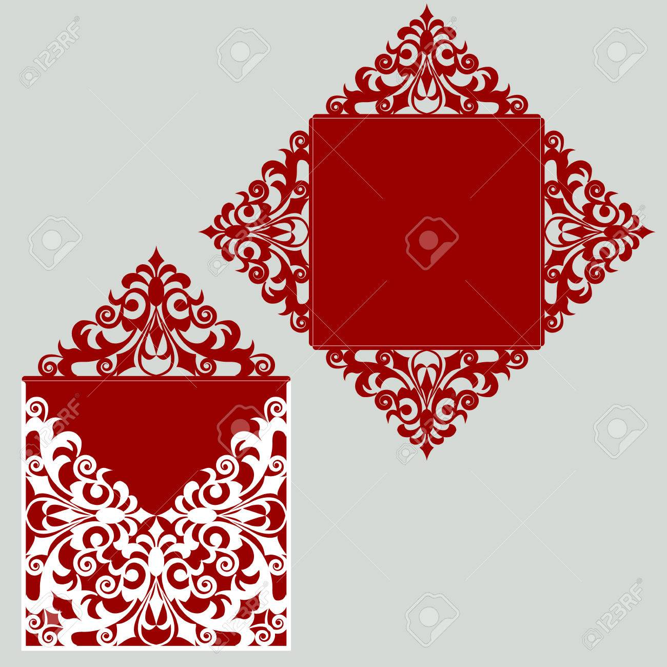 By janth in leds by sdebrecht in art by dimovi in toys & games by kosteej i. Square Laser Cut Wedding Invitation Template Card For Die Cutting Royalty Free Cliparts Vectors And Stock Illustration Image 65004071