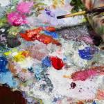 Abstrakte Farbe Palette Acryl Olfarbe Farbe Textur Flecken Von Olfarbe Moderne Kunst Abstrakte Kunst Malerei Hintergrund Lizenzfreie Fotos Bilder Und Stock Fotografie Image 83682017