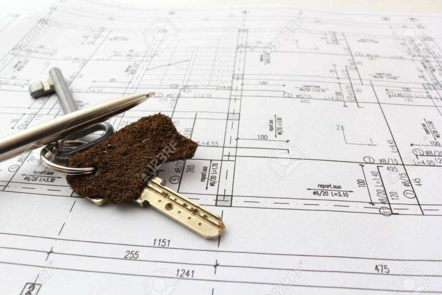 Keys And Pen Over Blueprint Of House For Contract Stock Photo     keys and pen over blueprint of house for contract Stock Photo   15963251