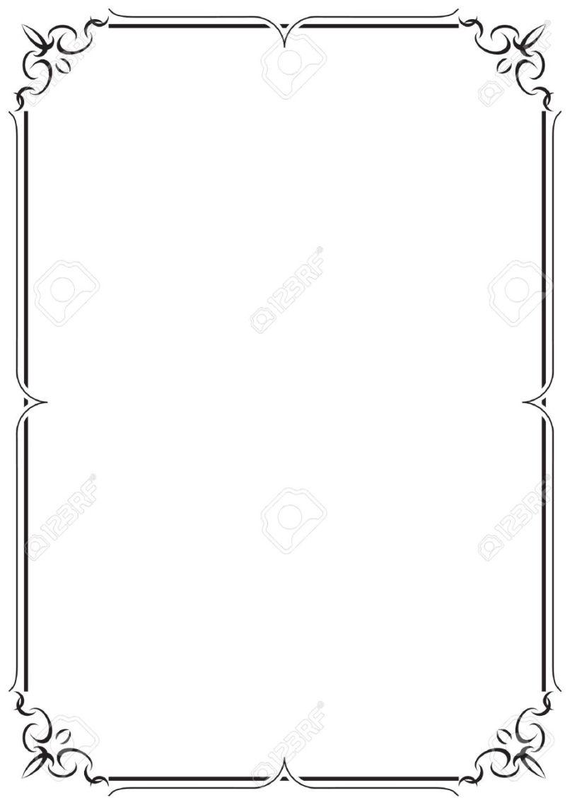 simple frame border. Plain Frame Simple Frame Border Ilration Of A Blank S Inside S