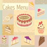Vector Drawing Cakes Menu For Bakery Cafe Vintage Theme And Pastel Royalty Free Cliparts Vectors And Stock Illustration Image 51079928