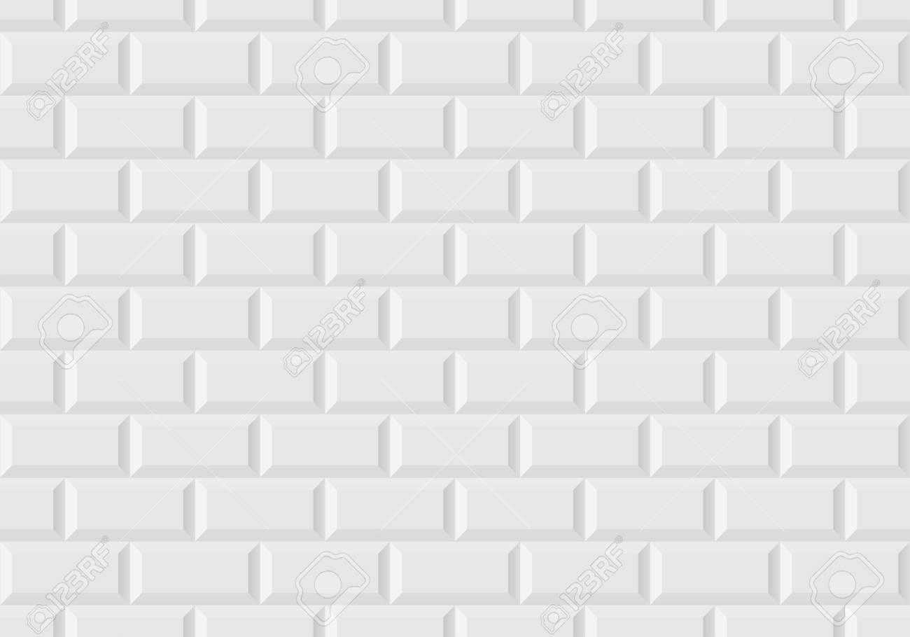 Carrelage Mural Blanc Comme Dans Le Metro Parisien Clip Art Libres De Droits Vecteurs Et Illustration Image 98722988