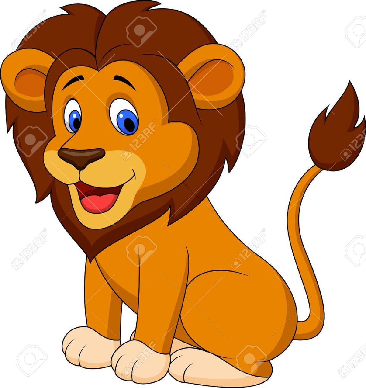 Funny Lion Cartoon Royalty Free Cliparts Vectors And Stock Illustration Image 19287800