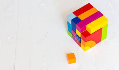 Colored Wooden Blocks Wooden Thing