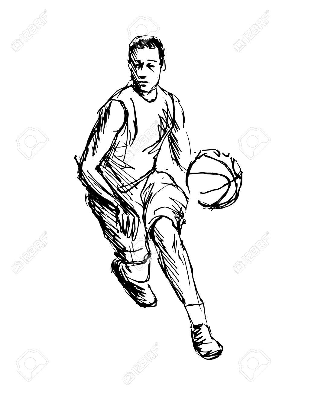Hand sketch basketball player vector illustration royalty free 79013796 hand sketch basketball player vector illustration photo