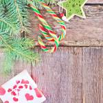 Brunch Of Christmas Tree And Color Candy On Wooden Background Stock Photo Picture And Royalty Free Image Image 34815774