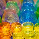 Multicolored Glass Candle Holders For Christmas Candles Stock Photo Picture And Royalty Free Image Image 118637631