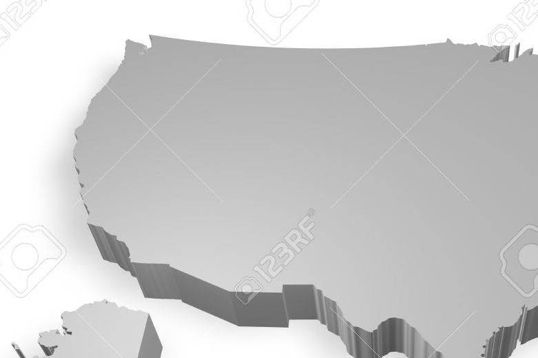HD Decor Images » Virginia State On Map Of USA 3d Model On White Background Stock     Stock Photo   Virginia state on Map of USA 3d model on white background