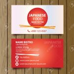 Business Card Template For Restaurant Business Vector Royalty Free Cliparts Vectors And Stock Illustration Image 28388466