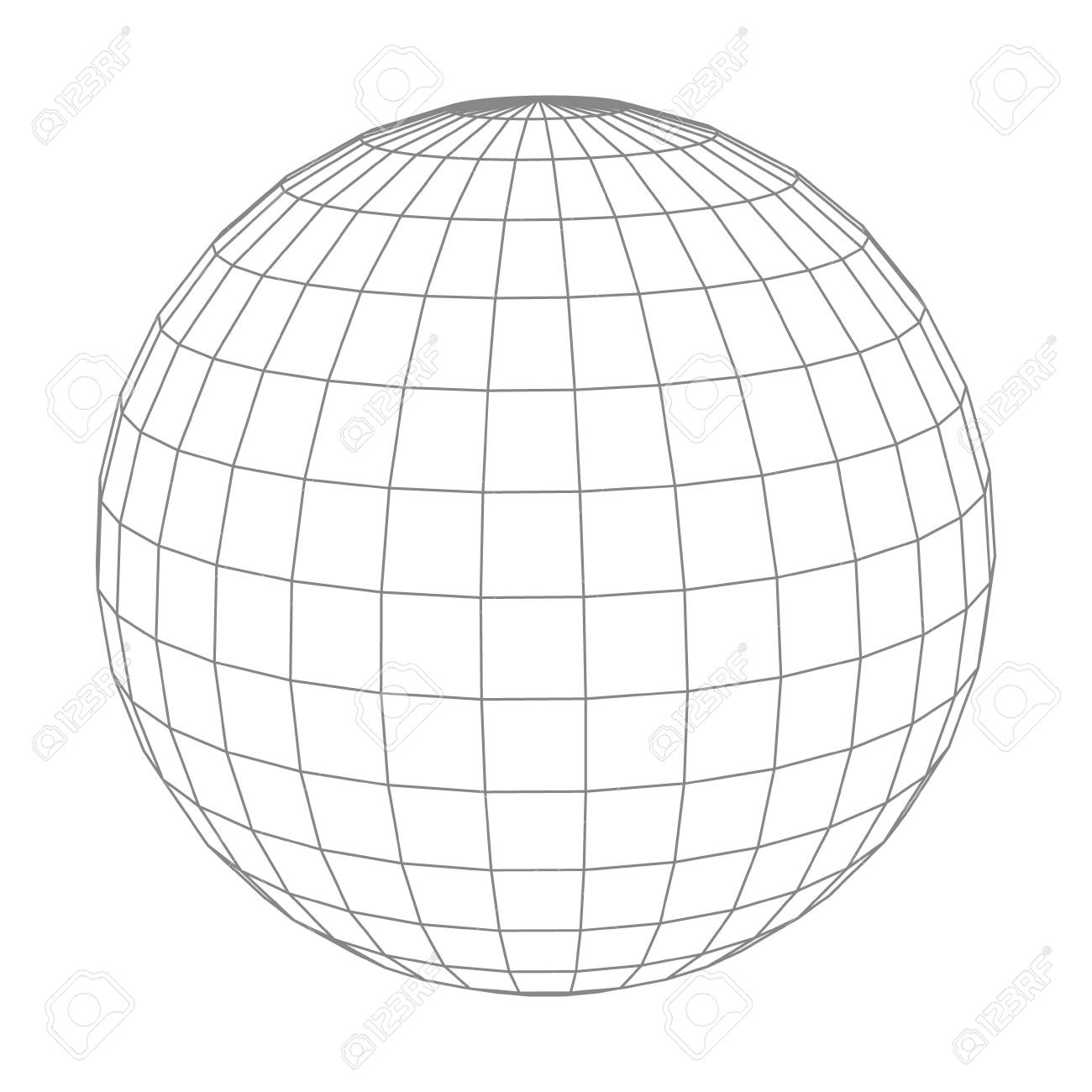 Abstract vector wireframe sphere globe on white isolated royalty rh 123rf africa globe grid green