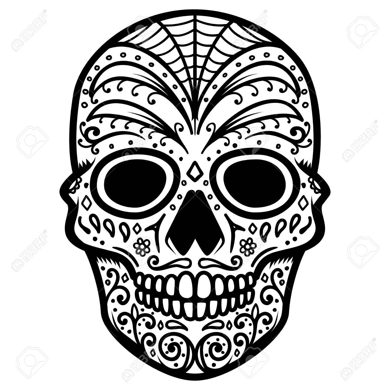 Illustration Of Mexican Sugar Skull Day Of The Dead Dia De Royalty Free Cliparts Vectors And Stock Illustration Image 109016517