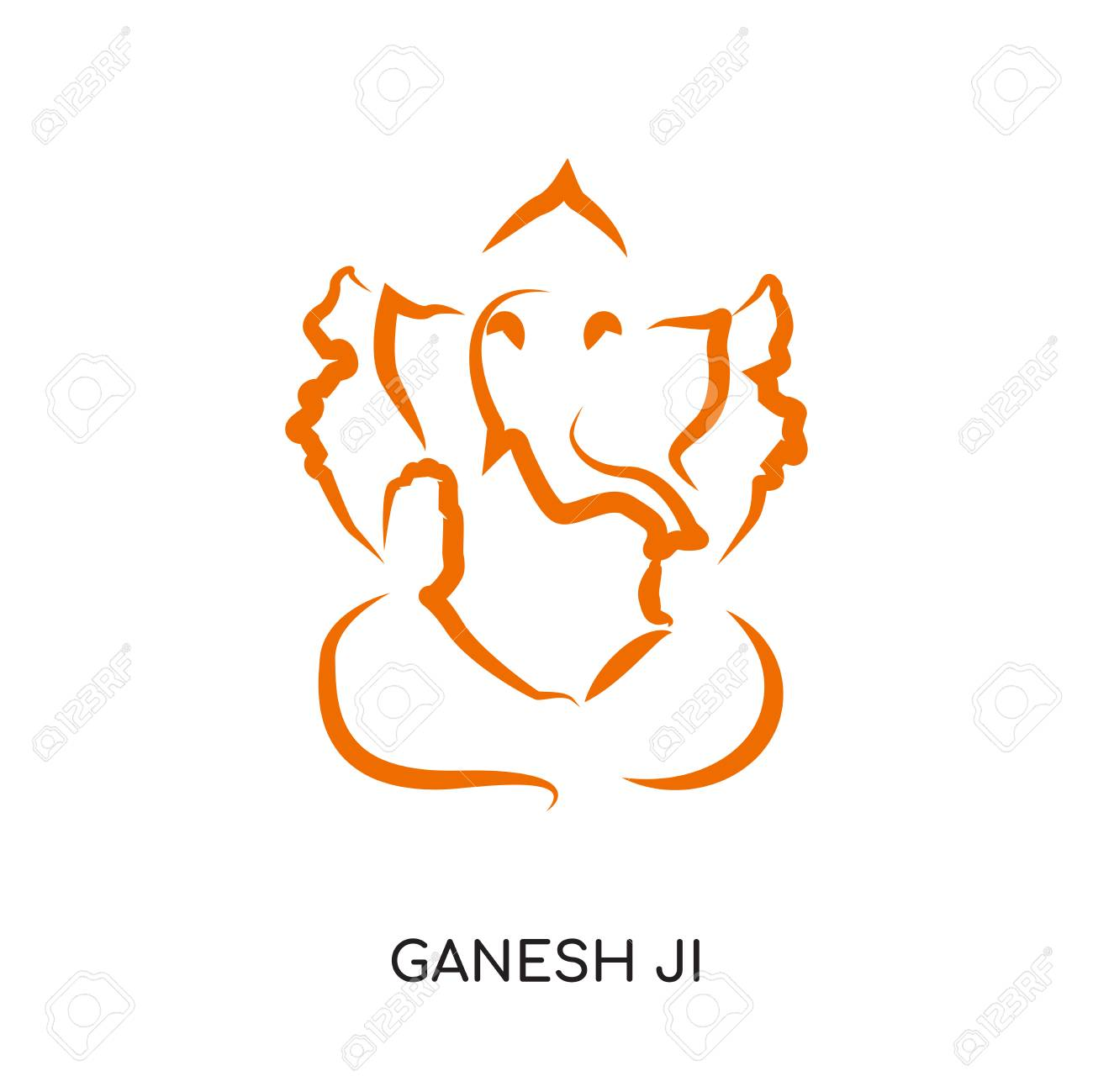 Ganesh Ji Logo Isolated On White Background For Your Web And Royalty Free Cliparts Vectors And Stock Illustration Image 101120399