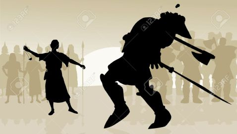 Image result for david and goliath silhouette