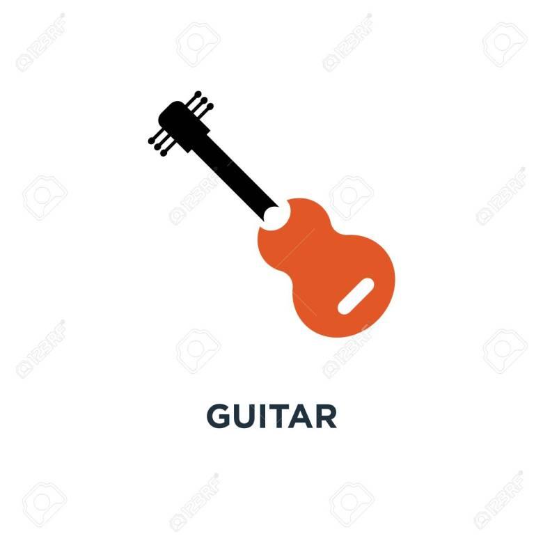 guitar icon. music instrument concept symbol design, sound play