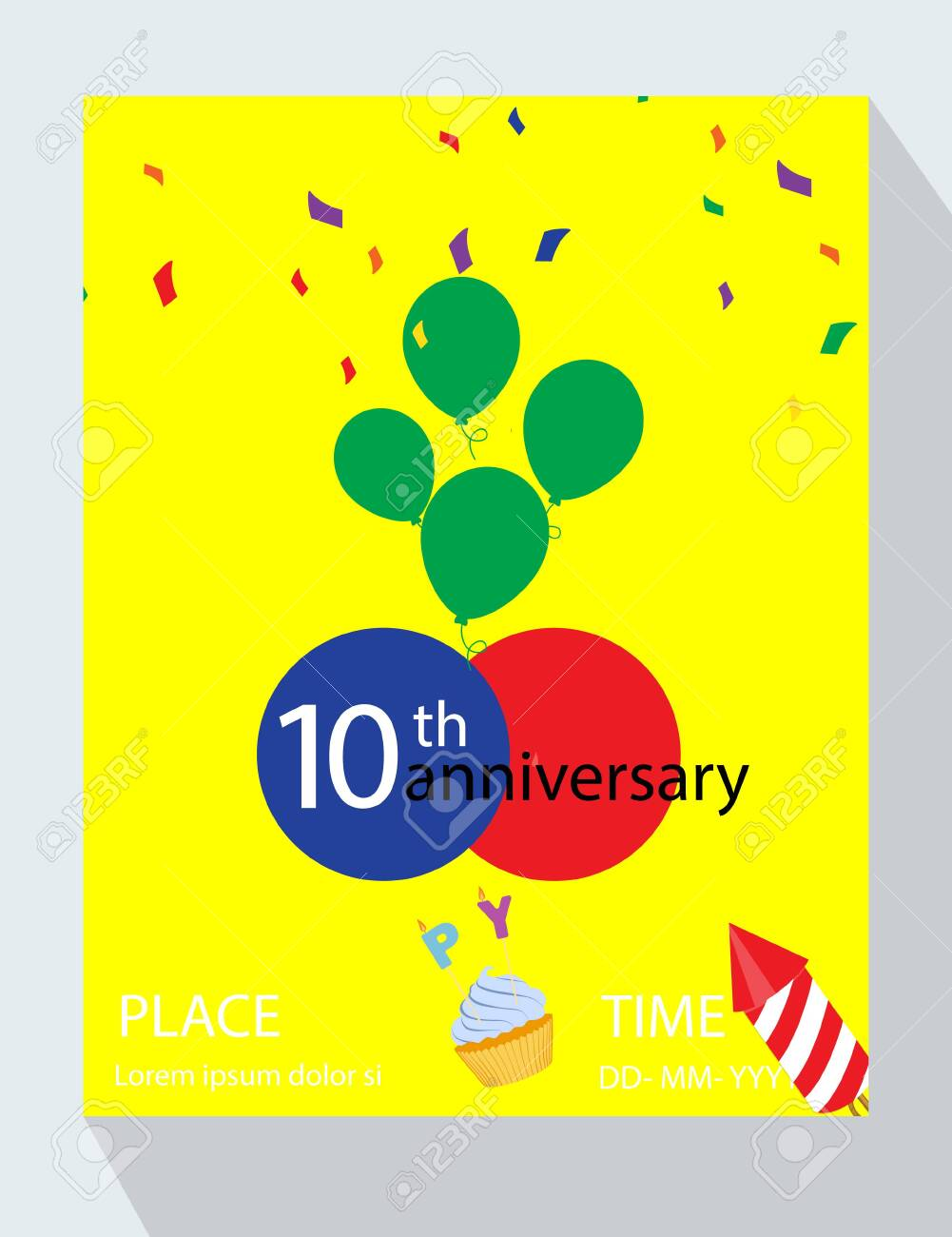 birthday party invitation card you are invited 10th birthday