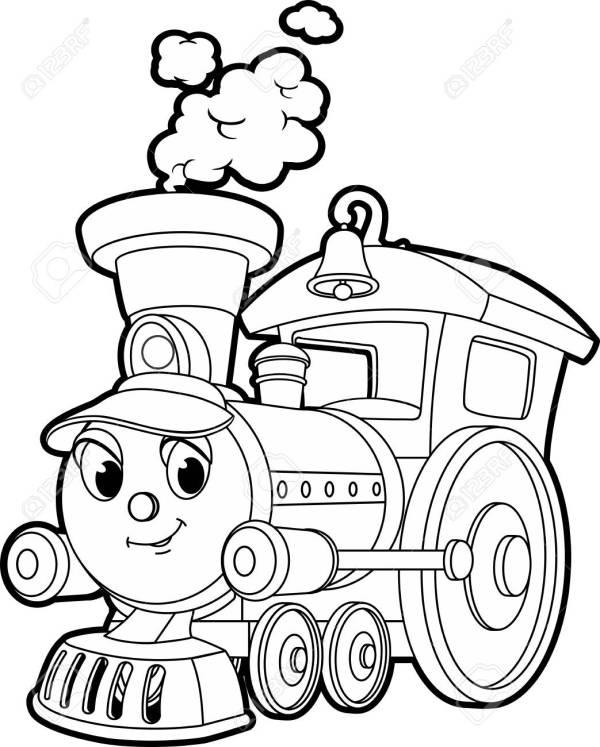 train coloring # 9