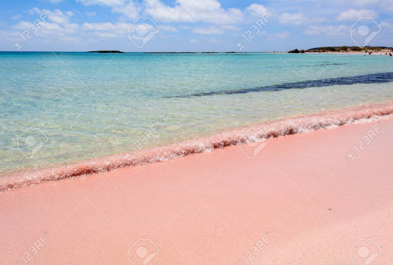 See some of the most beautiful ones in the world. Elafonisi Beach With Pink Sand Warm And Crystal Clear Water Crete Island Greece Stock Photo Picture And Royalty Free Image Image 120426001