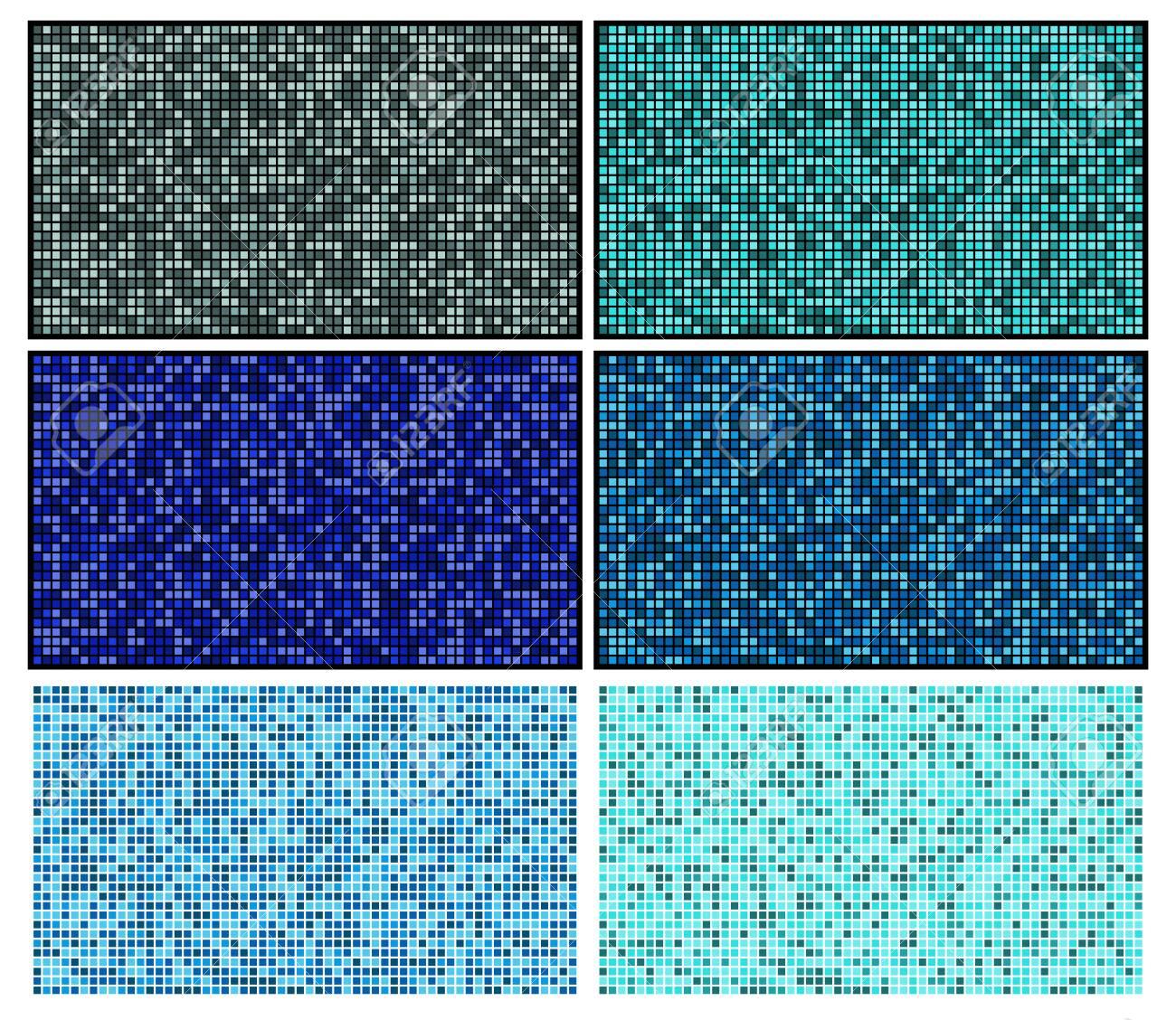 bathroom mosaic tile set blue swimming pool flooring with squares