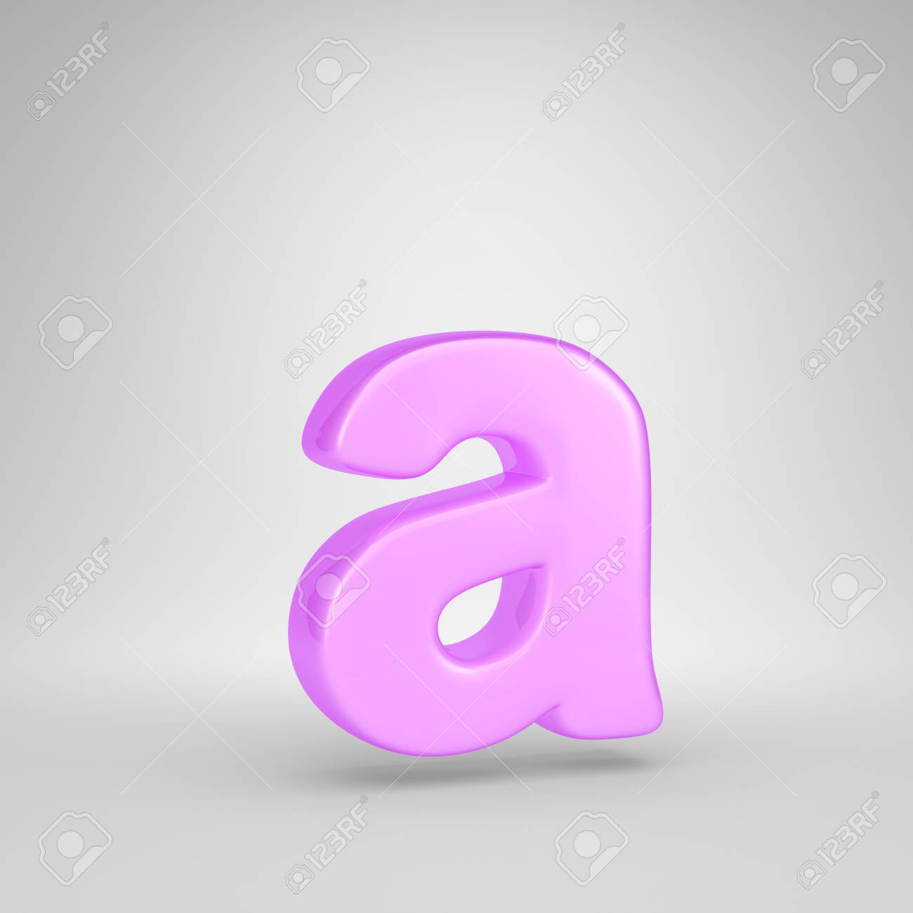 Glossy Pink Bubble Gum Letter A Lowercase 3d Render Pink Font Stock Photo Picture And Royalty Free Image Image 112171890