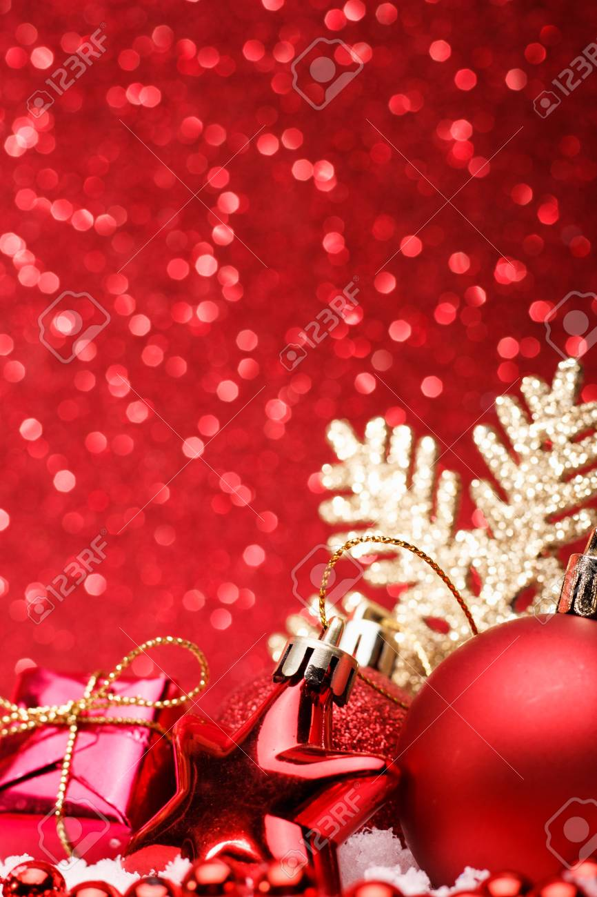 Natale wallpapers enjoy our curated selection of 4170 natale wallpapers and backgrounds. Christmas Composition Of Christmas Tree Toys On A Red Background Stock Photo Picture And Royalty Free Image Image 90799294