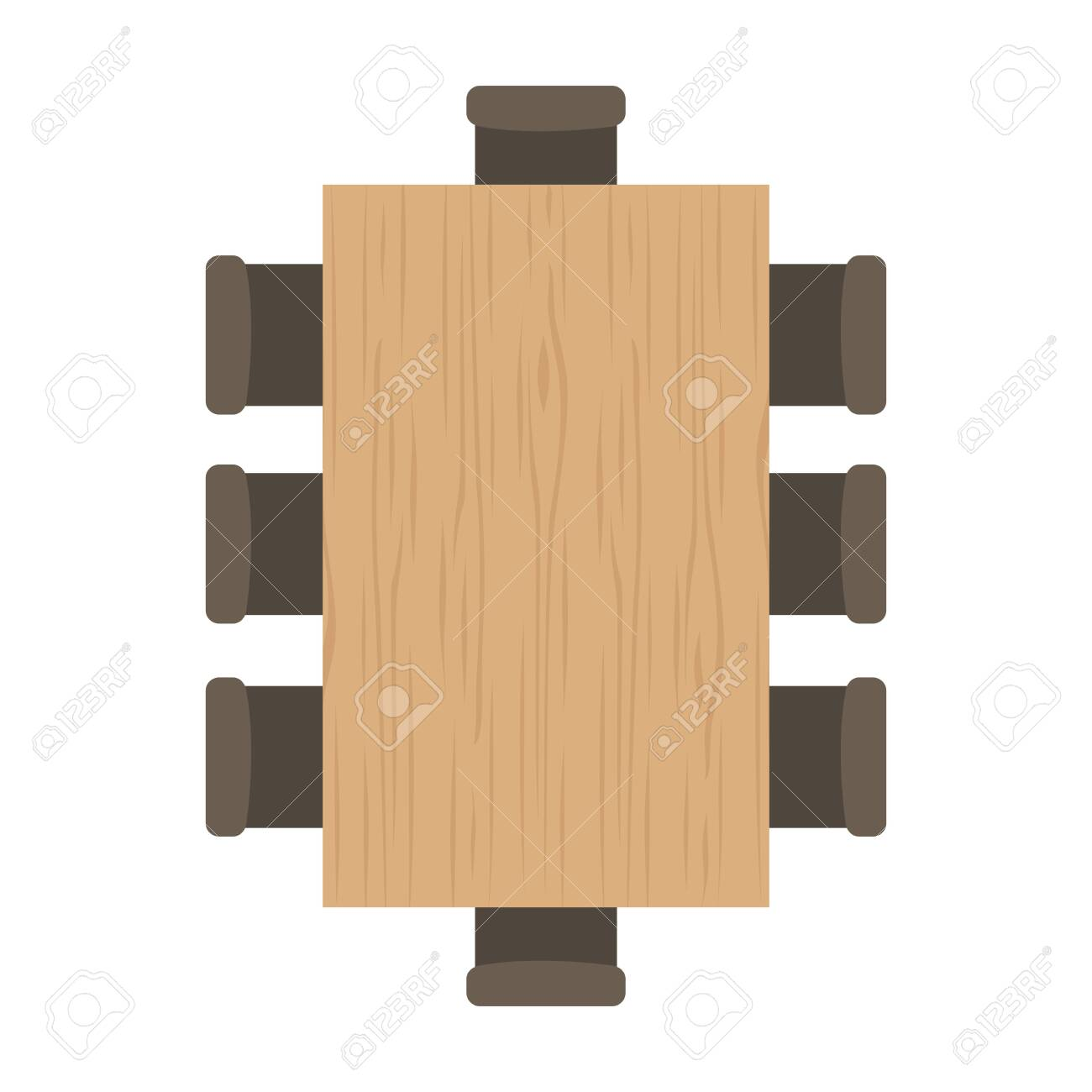 modern table top view design