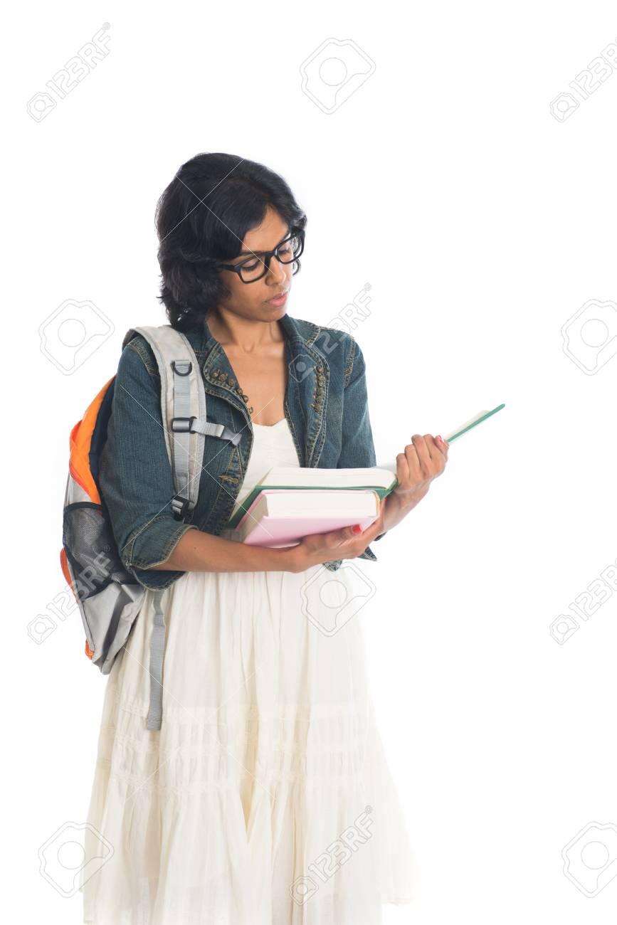 Indian Teenage College Girl Stock Photo 89336234