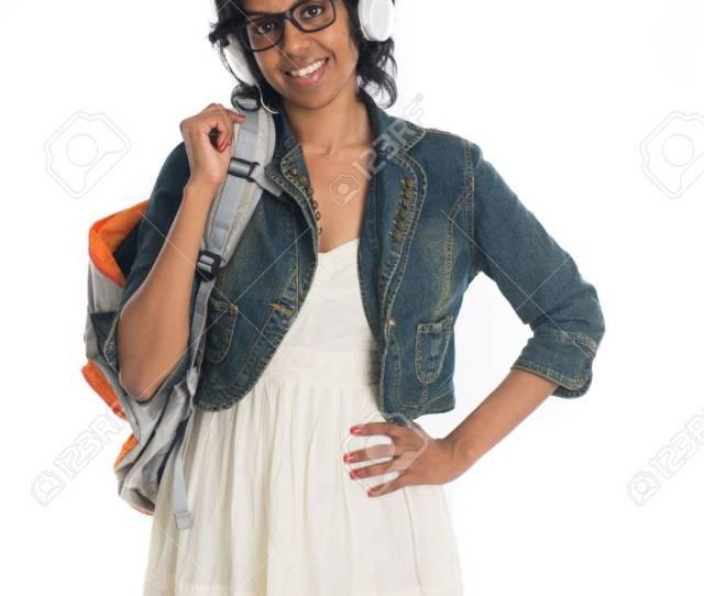 Indian Teenage College Girl Stock Photo 89335444
