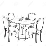 Furniture In Summer Cafe Chair And Table Sketch Royalty Free Cliparts Vectors And Stock Illustration Image 60196216