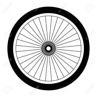 Diseño Del Ejemplo Del Vector Del Icono De La Rueda De La Bici ...