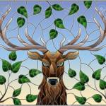 Illustration In Stained Glass Style With Deer Head On The Background Royalty Free Cliparts Vectors And Stock Illustration Image 110312325