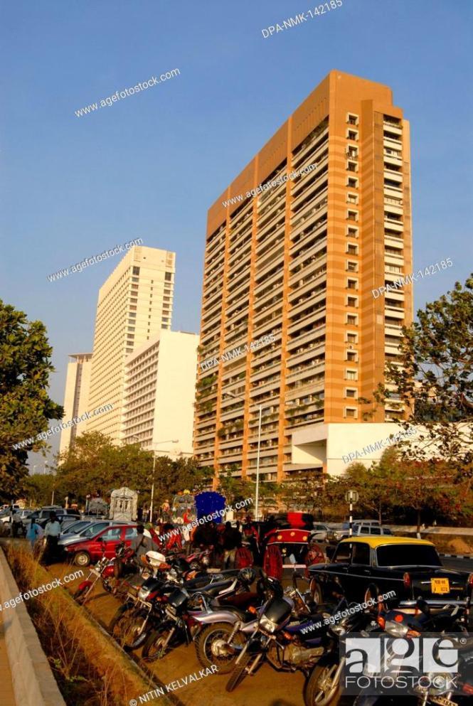 Stock Photo Hilton Tower Oberoi Hotel And Apsara Apartments Ncpa Nariman Point Ay Now Mumbai Maharashtra India