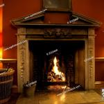 Offener Kamin Mit Feuer Das Funken Sprueht Fireplace With Fire Sparking Stock Photo Picture And Rights Managed Image Pic Zon 5496606 Agefotostock