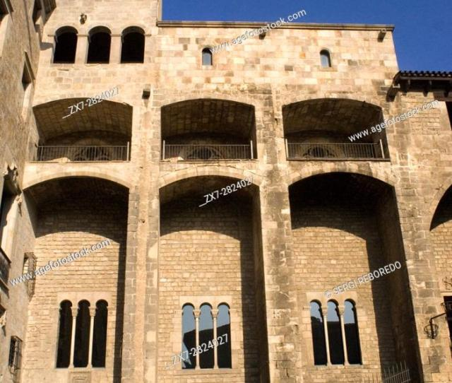 Stock Photo Palau Reial Major Grand Royal Palace In Placa Del Rei Kings Square Gothic Quarter Barcelona Spain In The Middle Ages Barcelona Became