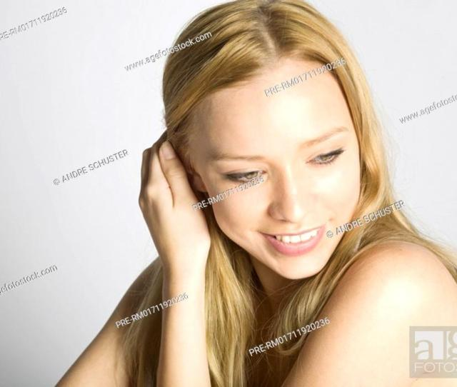Stock Photo Portrait Of A Blond Teenager
