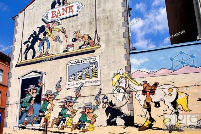 Resultado de imagen de graffitis bruselas lucky luke