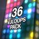 LED Wall Lights VJ Loops Pack