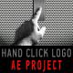 Hand click logo opener - revealer