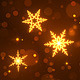 Golden Snowflakes Christmas & New Year Background