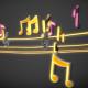 Cool Music Notes loop