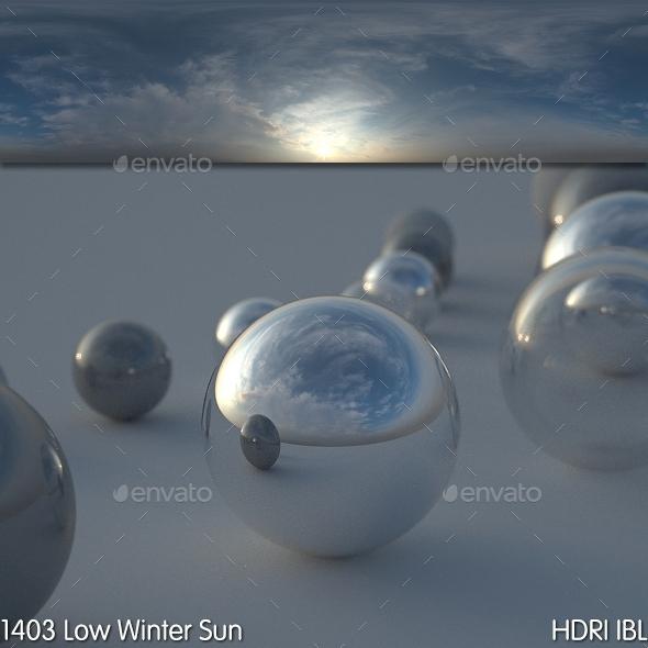 HDRI IBL 1403 Low Winter Sun